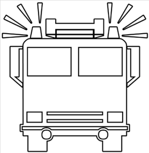 294x300 Free Black And White Fire Truck Clip Art