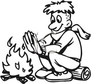 300x278 Camp Fire Clipart Black And White