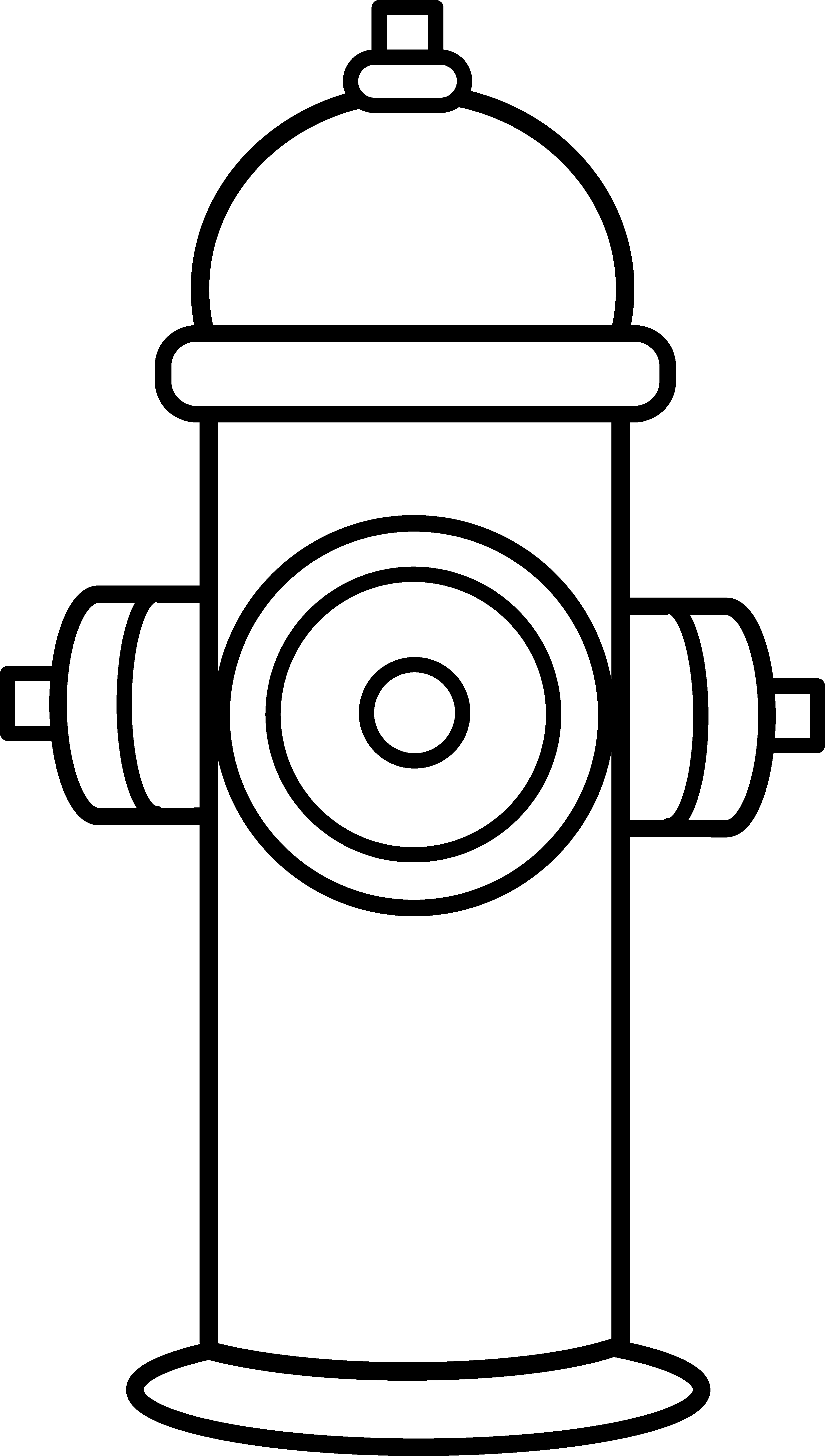 3349x5911 Fire Hydrant Coloring Page