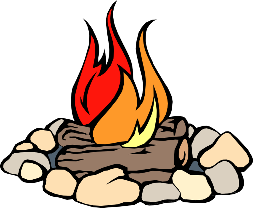 855x704 Clip Art Of Fire