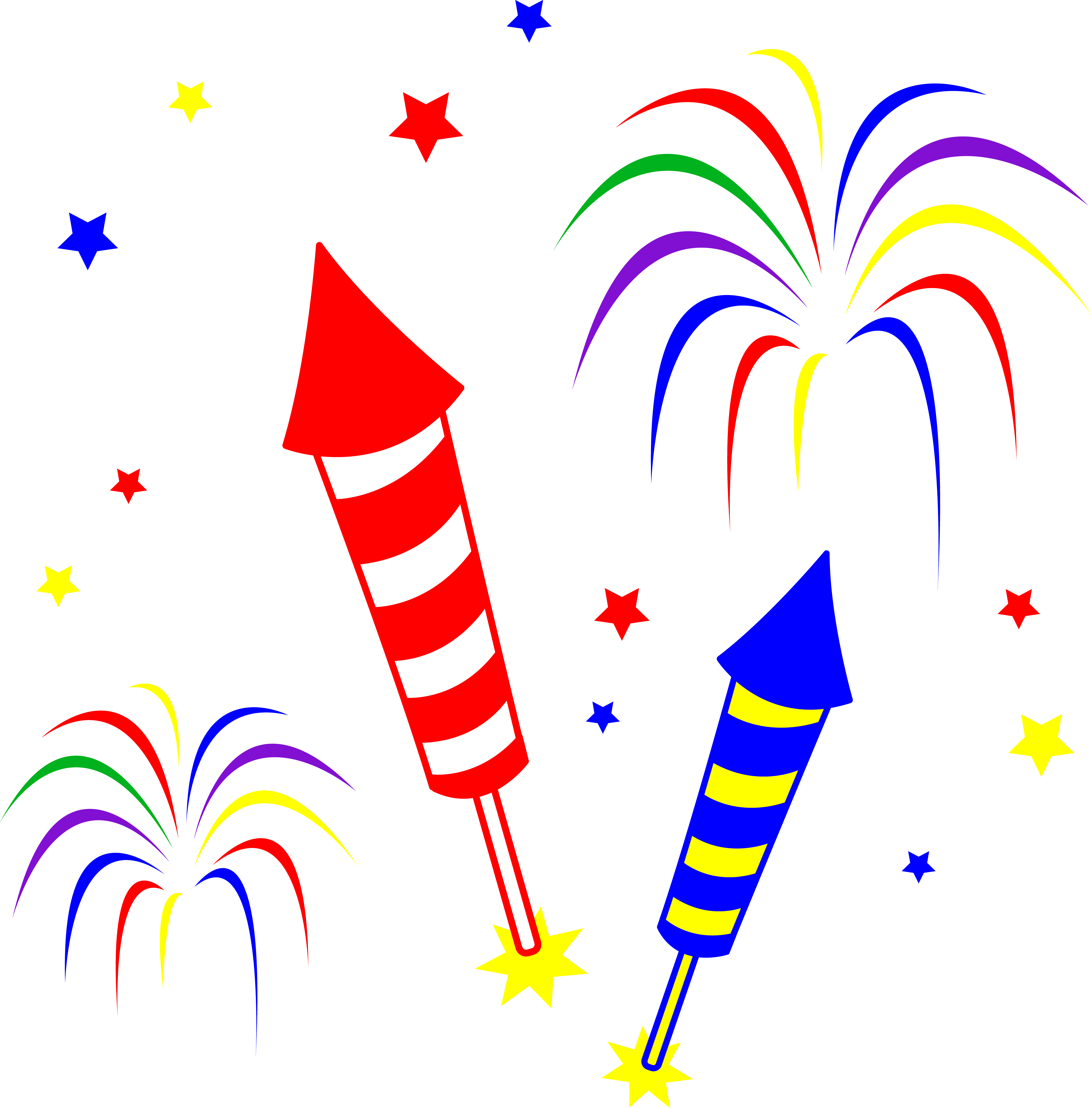 7358x7466 Fireworks And Rockets