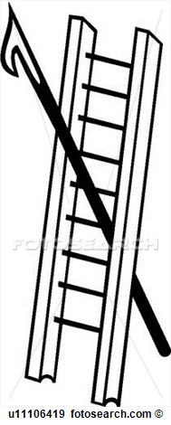 189x470 Fire Ladder Clipart