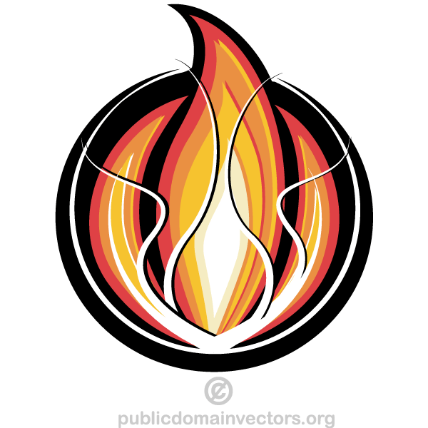 600x600 Fire Logo Design Vector 123freevectors