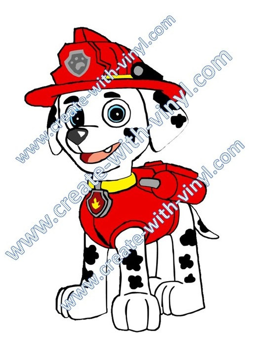 514x681 Paw Patrol Marshall Fire Dog Svg Cameo Cricut