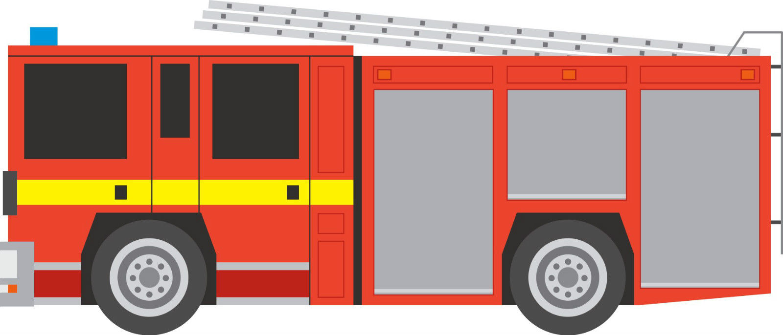 1600x686 Fire Engine Wall Stickers Images