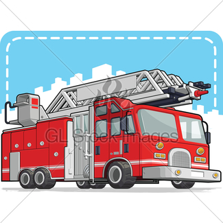 325x325 Fire Engine And Fireman Gl Stock Images