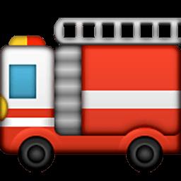 256x256 Fire Engine Emoji For Facebook, Email Amp Sms Id  486 Emoji.co.uk