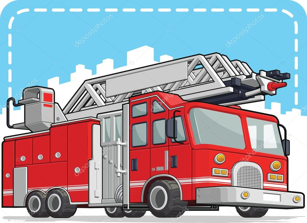 1023x743 Red Fire Truck Or Fire Engine Stock Vector Bluezace