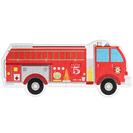 522x522 24 Piece Jumbo Fire Engine Floor Puzzle By Imagination