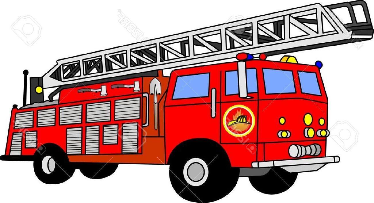 1300x707 Best Hd Fire Truck Firetruck Stock Illustrations Vectors Clipart