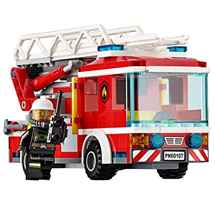 425x425 Lego City Fire Ladder Truck 60107 Cool Toy For Kids