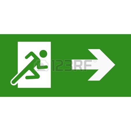 Fire Exit Sign Clipart
