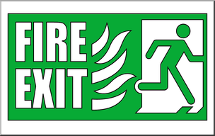 304x192 Clip Art Signs Fire Exit 1 Color I Abcteach