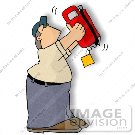450x450 Man Holding A Fire Extinguisher Upside Down While Inspecting It
