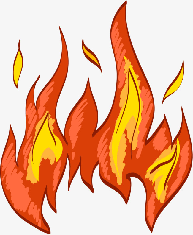 650x789 Flame Combustion, Burning Fire, Cartoon Hand Drawing, Flame Png