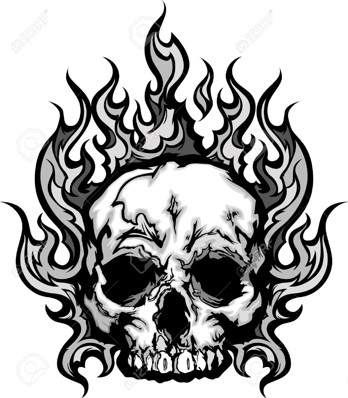 1137x1300 Fire Flame Skull Clipart, Explore Pictures