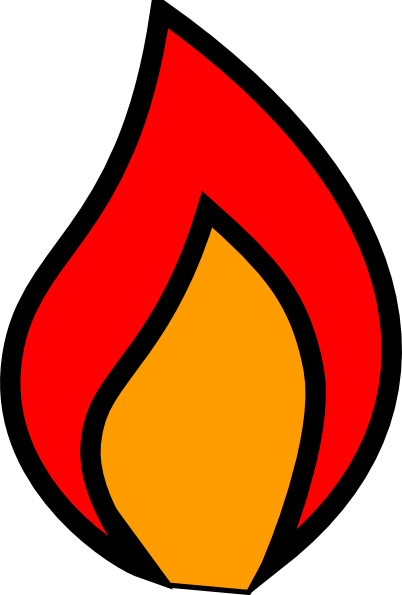 402x595 Fire Flames Clipart Black And White Free Clipart