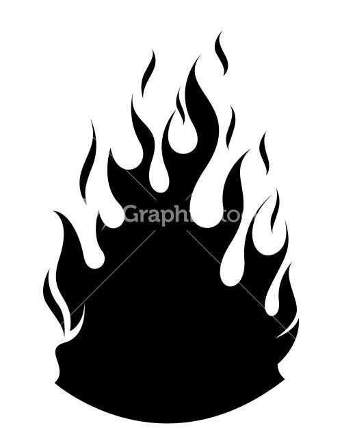 500x628 Flame Silhouette Clip Art