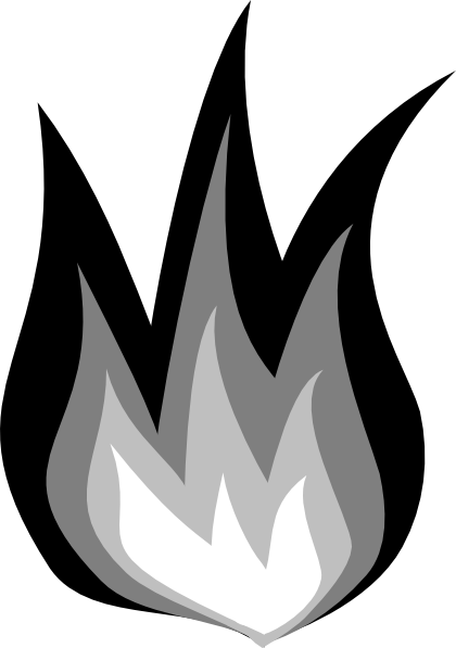 420x597 Flames Clipart Black And White