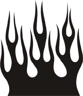289x336 Black And White Flame. Fire Clipart Panda