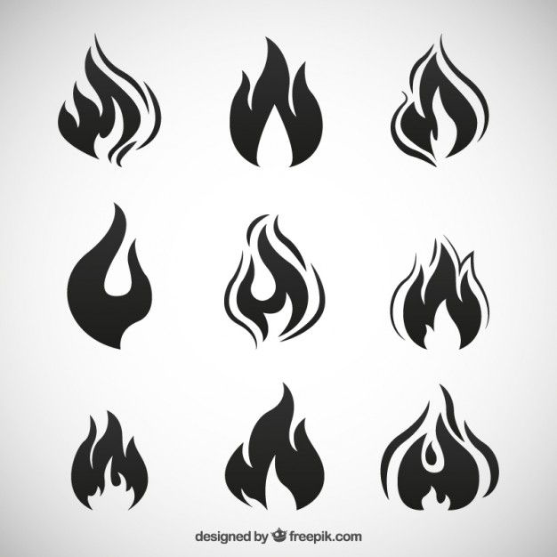 626x626 Black Fire Flames Vector Free Download