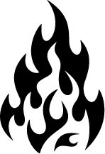 148x217 Classic Fire Flames Decal 077 Clipart Panda