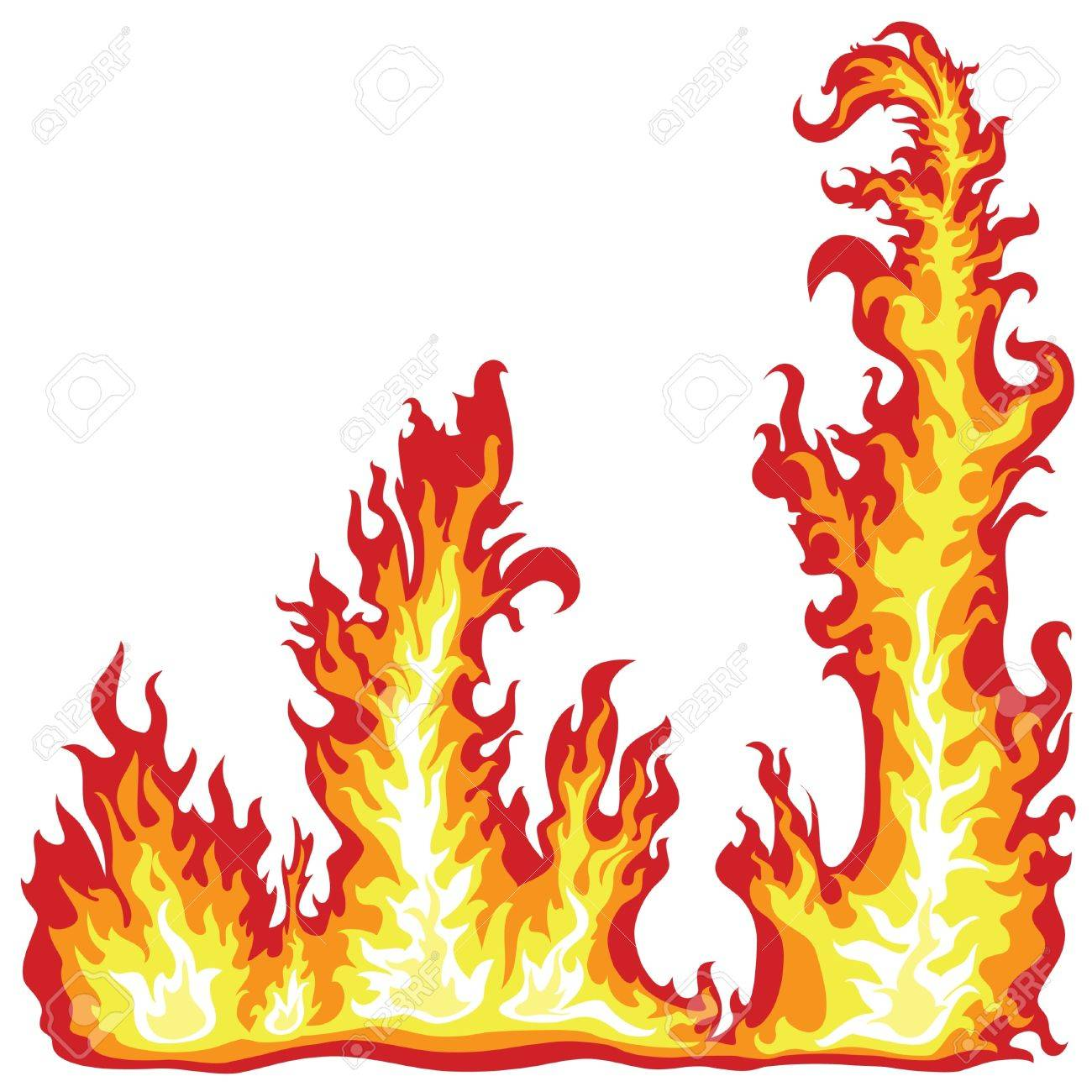 1300x1300 Fire Flames Frame