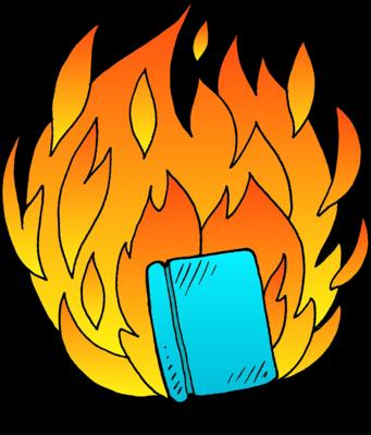 341x400 Image Flaming Bible Bible Clip Art