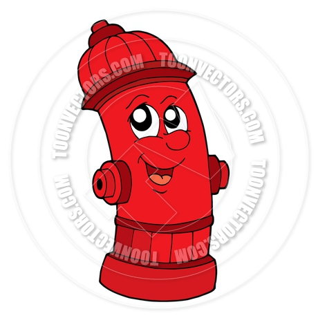 460x460 Cartoon Cute Red Fire Hydrant By Clairev Toon Vectors Eps