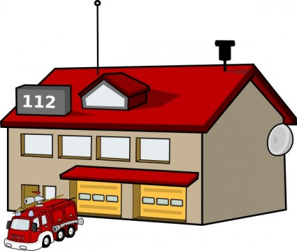 425x359 Fire Station Clip Art Vector Clip Art Free Vector Free Download