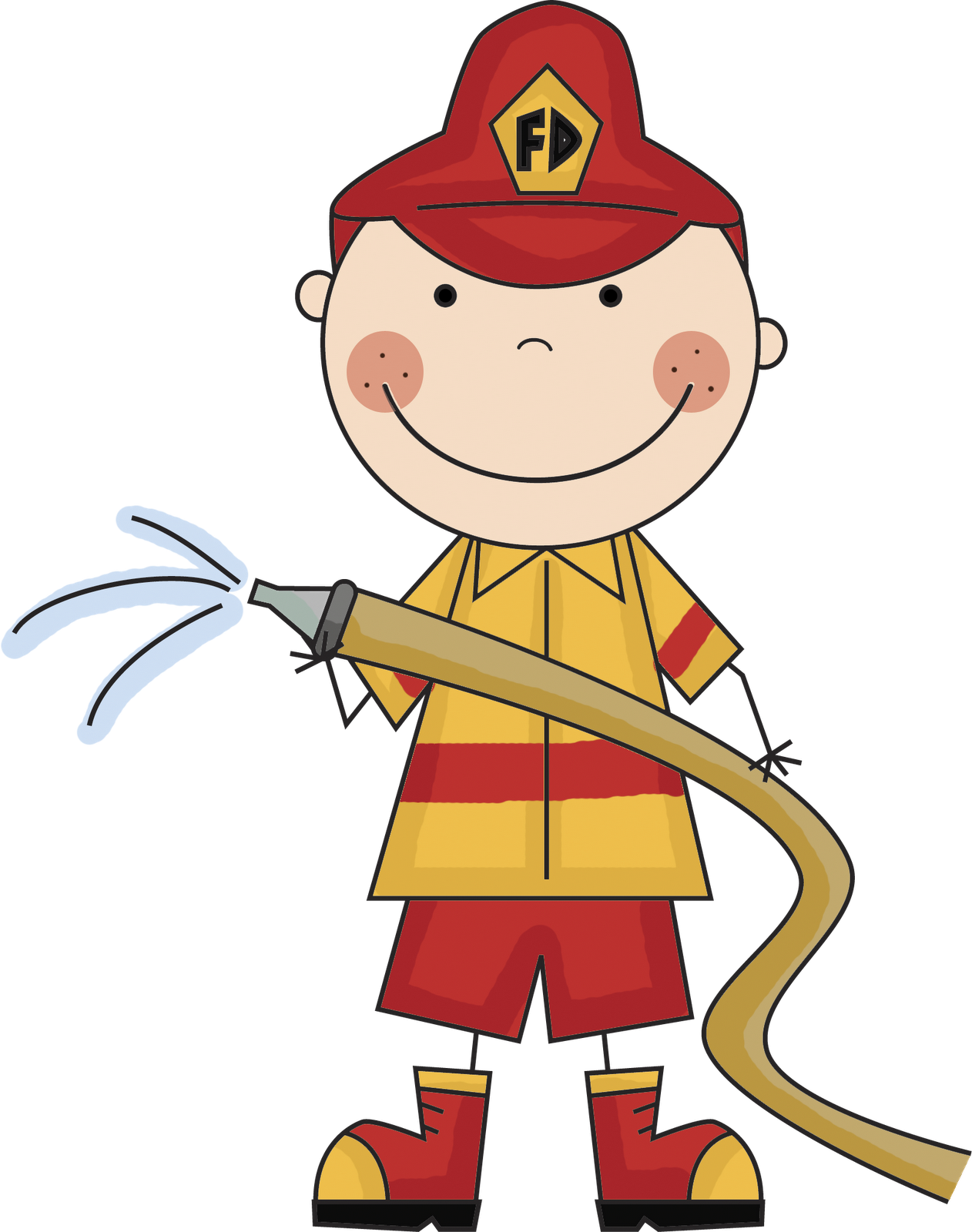 1262x1600 Fire Fighter Clipart