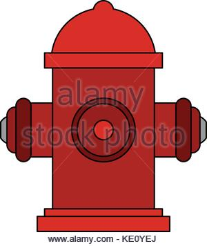 300x356 Red Fire Hydrant Vector Icon For Video, Mobile Apps Stock Vector