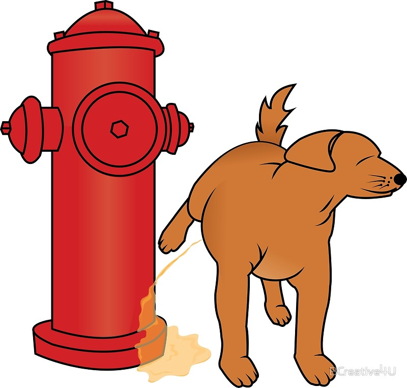 800x762 Dog Peeing On The Fire Hydrant Posters By Bcreative4u Redbubble