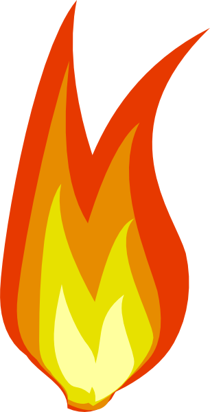 306x600 Free Clipart Fire