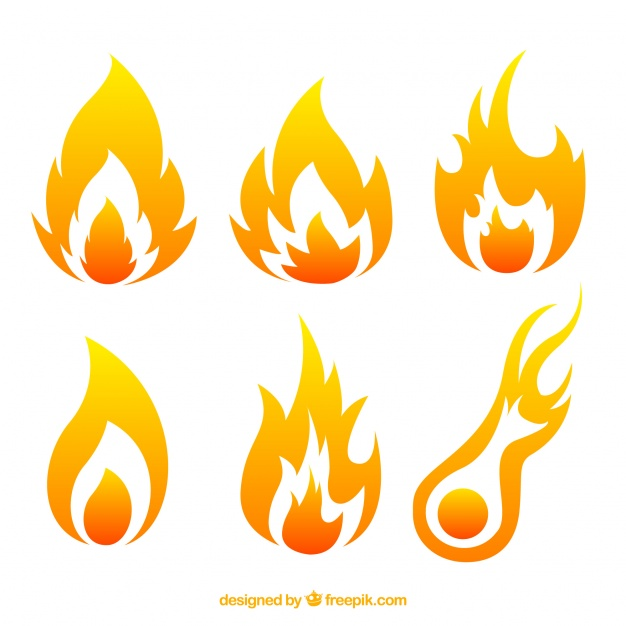 626x626 Pack Of Flames Of Fire Vector Free Download
