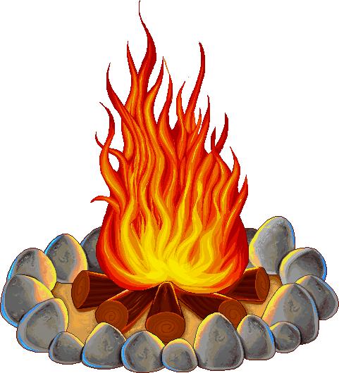 481x530 Stones Fire Pit Clipart