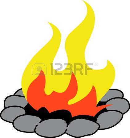 422x450 Bonfire Clipart Fire Pit