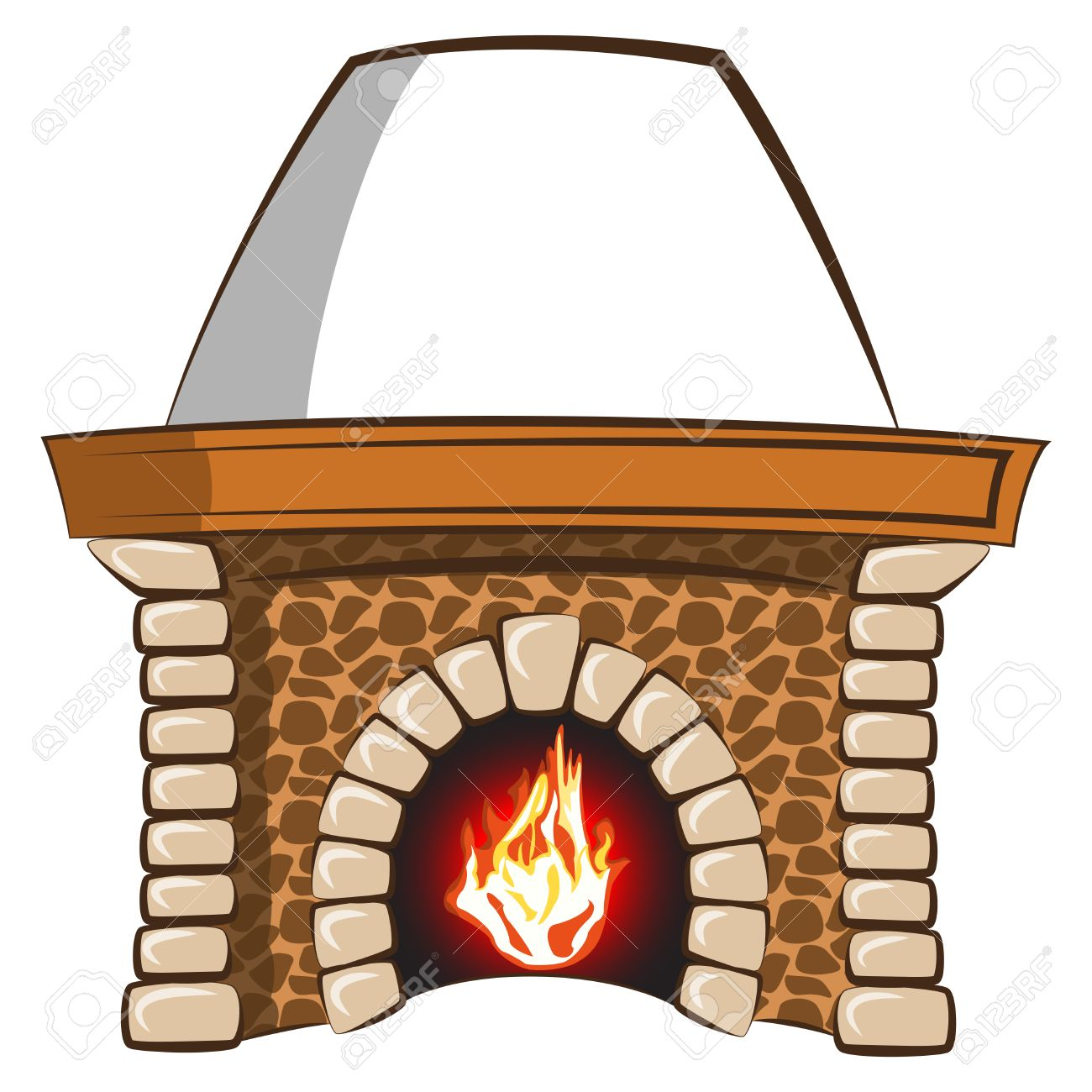 1300x1300 Fireplace Clipart Stone Fireplace
