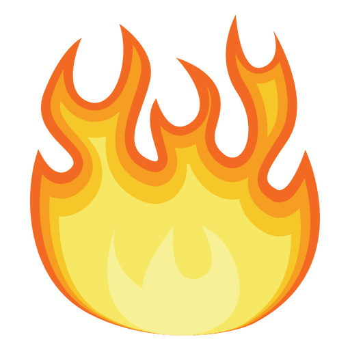 512x512 Fire Gradient Illustration