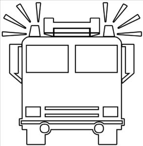 294x300 Fire Truck Outline Clip Art