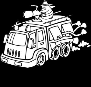 299x288 Fire Truck Clipart House Fire