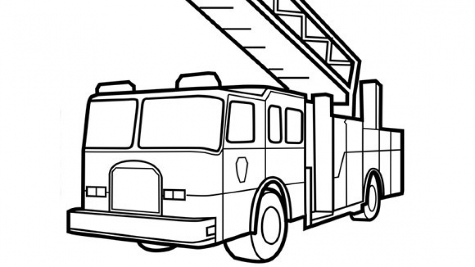 960x539 Get This Preschool Fire Truck Coloring Page To Print 28189 !
