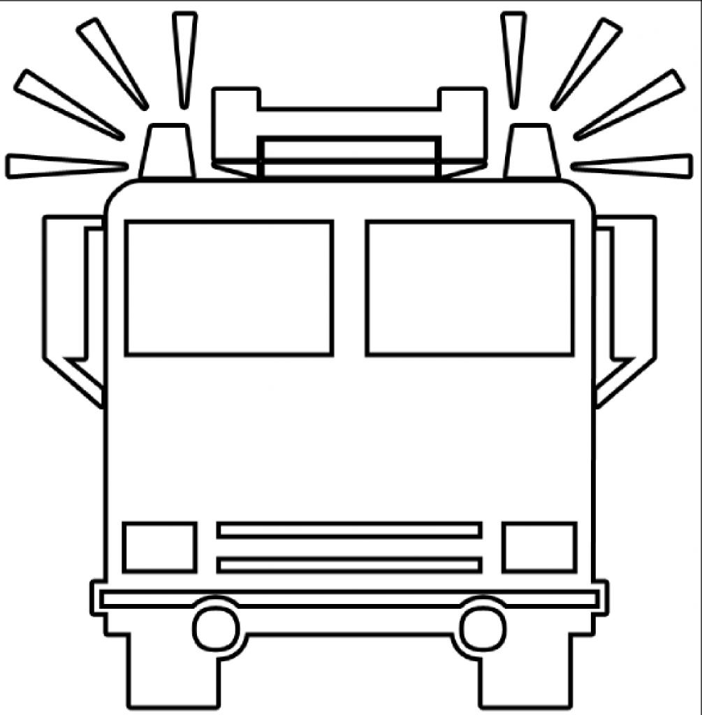 1005x1024 Best Hd Fire Truck Clipart Black And White Free Drawing