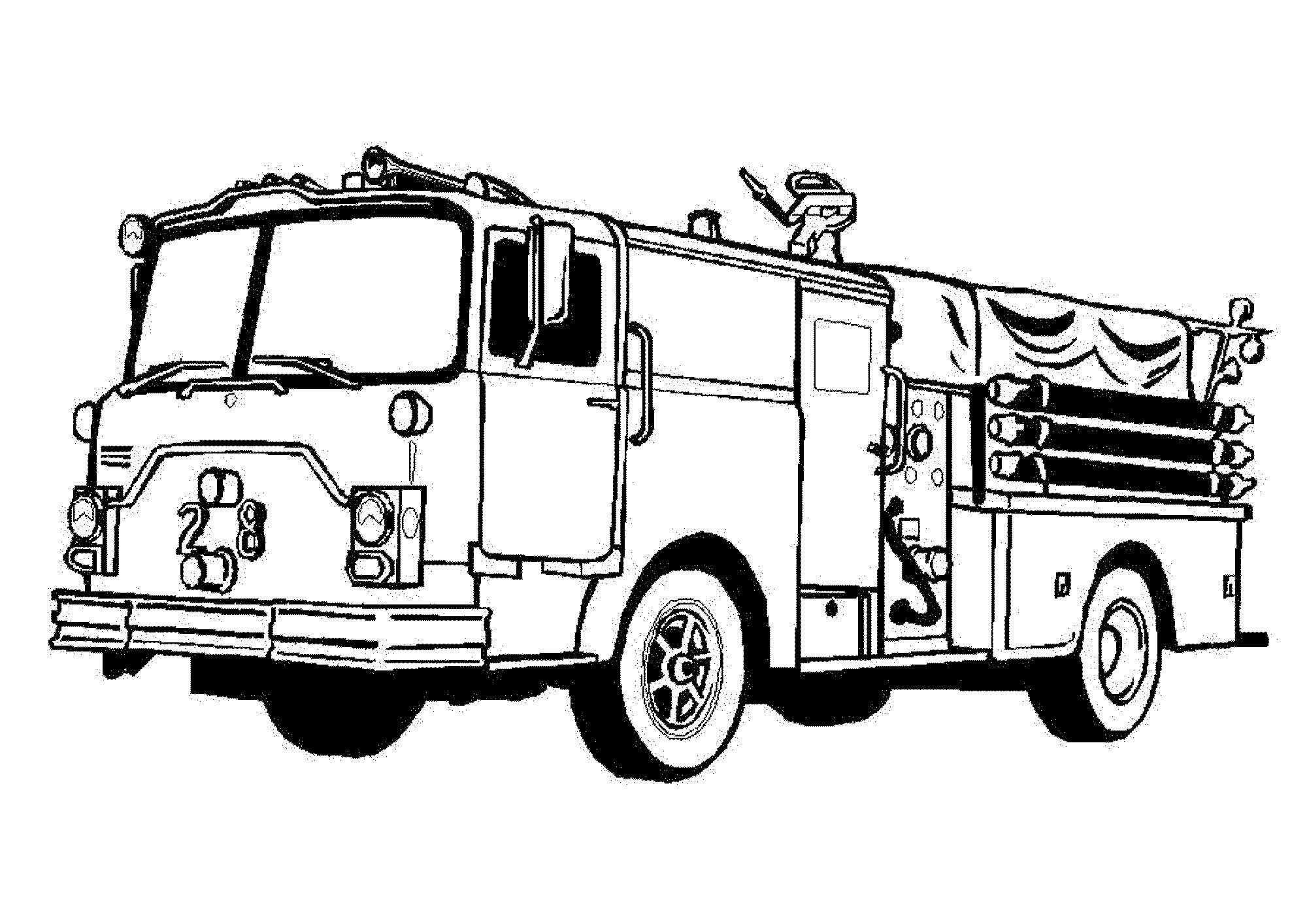 2000x1414 Coloring Pages Fire Truck Coloring Page Fun