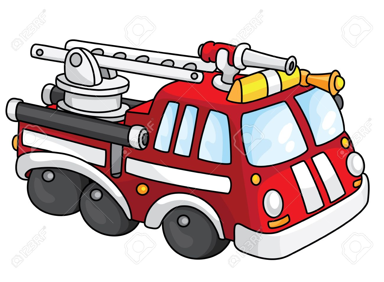 1300x955 Fire Truck Clipart Transportation