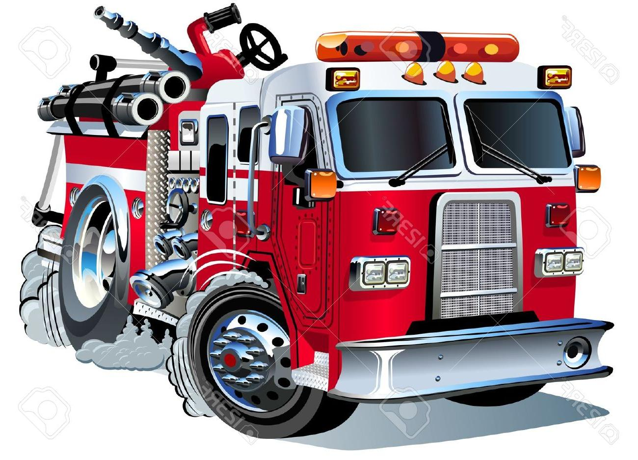 1300x937 Hd Vector Cartoon Fire Truck Stock Images