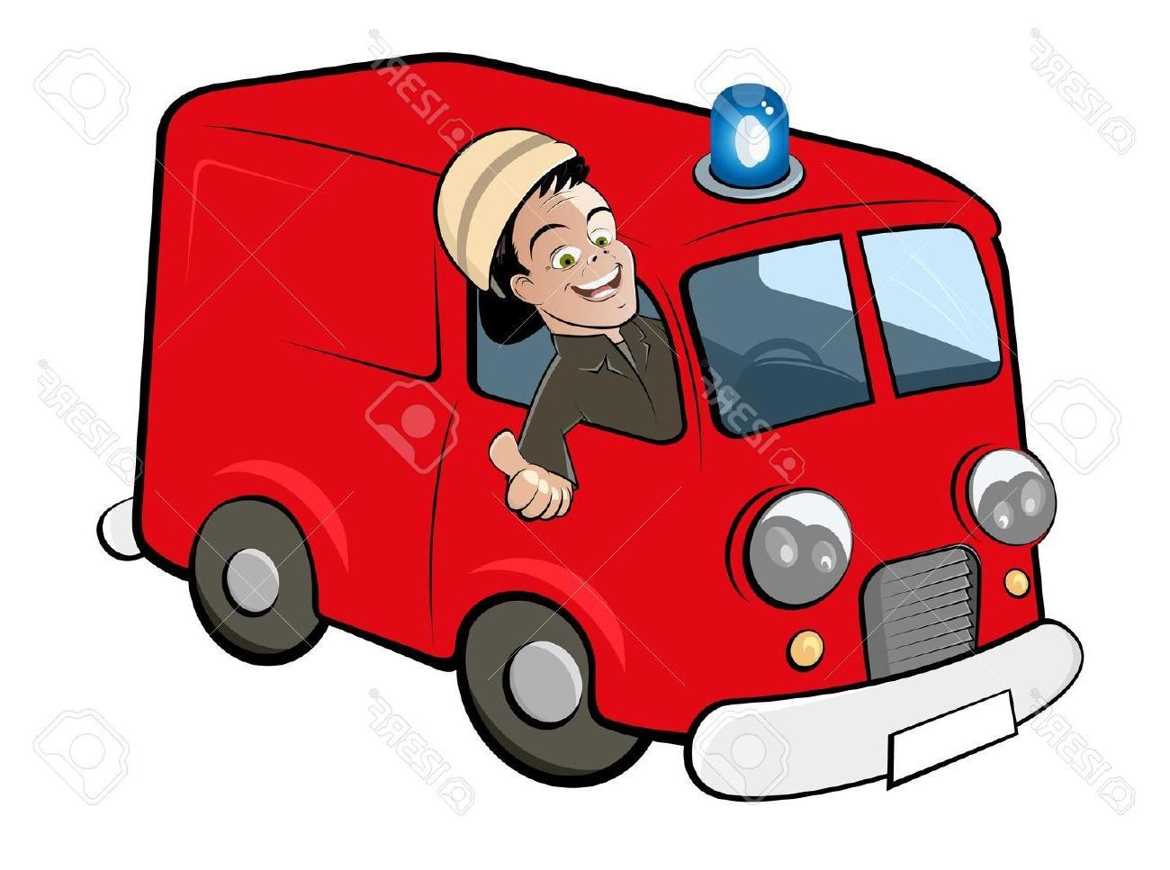1300x967 Top 10 Cartoon Fire Truck Stock Vector Department Design