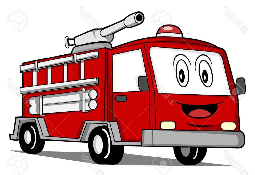 1024x703 Top Rescue Truck Car Stock Vector Fire Cartoon Design