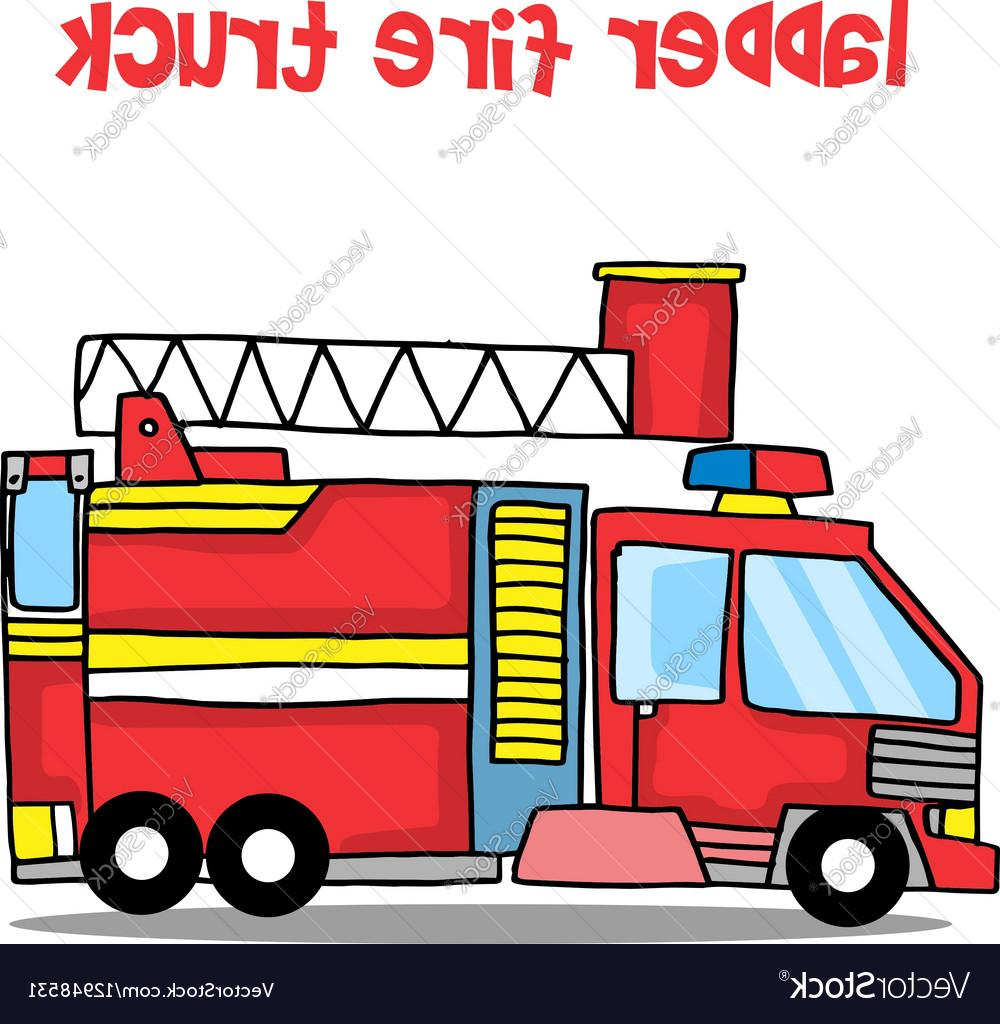 1000x1024 Unique Transport Of Ladder Fire Truck Cartoon Vector Design