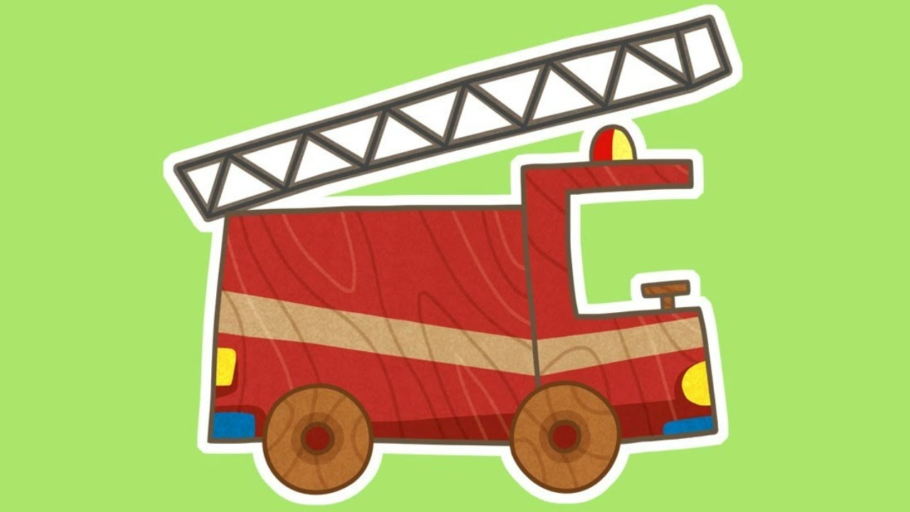 1280x720 Car Toons New Cartoon! Fire Truck.